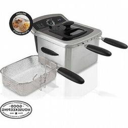 Electric Deep Fryer Cooker Home Countertop Dual Basket Fries