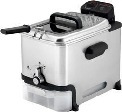 T-fal 7211002145 FR8000 Deep Fryer with Basket, Silver Singl
