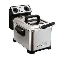 T-Fal Deep Fryer Metal 1600 W 2.6 Lb. Brushed Stainless Stee