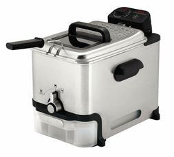 T-Fal Deep Fryer w/ Basket Fryer Oil Filtration Easy to Clea