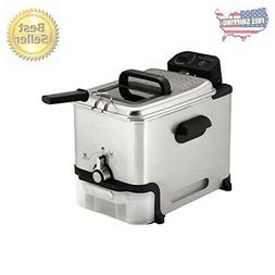 T Fal Deep Fryer W Basket Stainless Steel Easy To Clean Oil