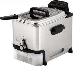 T-fal Deep Fryer with Basket  Stainless Steel  Easy to Clean