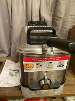 T-Fal Deep Fryer With Basket Stainless Steel Easy To Clean F