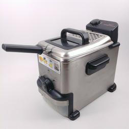 T Fal Emeril Deep Fryer 1.8L Stainless Steel 1.1 pound Food