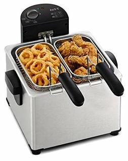 T-fal Triple Basket Deep Fryer with Stainless Steel Removabl