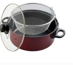 The Kitchen Sense Heavy Duty Non-Stick Deep Fryer with Glass