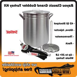 "Turkey Deep Fryer Kit ""Grand Gobbler"" 42 Quart Oversized for"