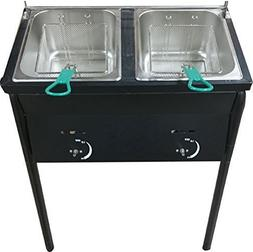 Bioexcel taco cart Outdoor Two Tank Fryer compatible with Pr