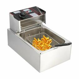 U`King  20L 5000W Electric Deep Fryer Dual Tank Stainless St