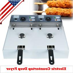 usa 11l electric countertop deep fryer commercial