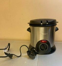 Used Presto 05470 Stainless Steel Electric Deep Fryer, Silve
