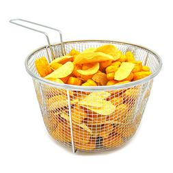Best Utensils Stainless Steel Deep Fry Basket Round Wire Mes