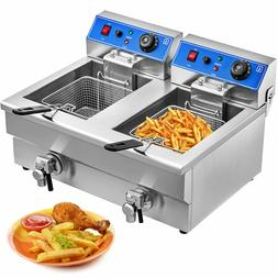 Vevor Double Stainless Steel <font><b>Fryer</b></font> 2x12L