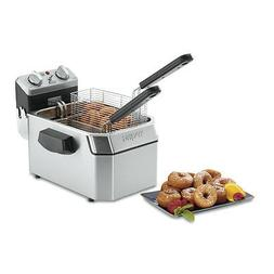 Waring WDF1000BD Double  10lb Electric Countertop Deep Fryer