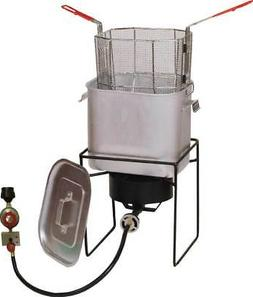 14 in. Welded Propane Outdoor Cooker with Recessed Top